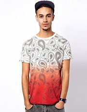 Worn By T-Shirt with Hendrix Paisley Dip Dye Print