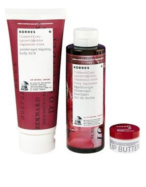 Image 1 ofKorres Limted Edition Wild Rose Bodycare Set SAVE 27%
