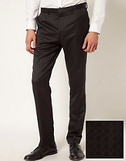 ASOS Slim Fit Tuxedo Suit Trousers in Jacquard