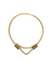 Yasmin By Gogo Philip Chunky Chain Necklace with Square Design