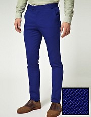 ASOS Skinny Fit Suit Trousers in Polywool
