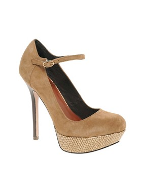 Image 1 ofMiss KG Dahlia Platform Suede Court Shoes