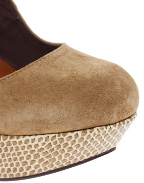 Image 2 ofMiss KG Dahlia Platform Suede Court Shoes