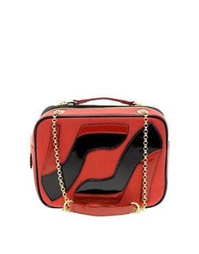 Image 1 ofLulu Guinness Leather Small Chain Emily Bag