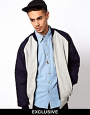 Reclaimed Vintage Varsity Jacket with Quilted Sleeves