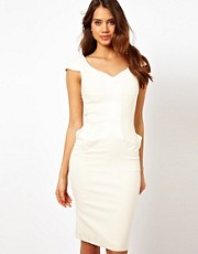 Hybrid Midi Dress with Sweetheart Neckline