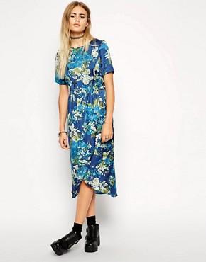 ASOS Reclaimed Vintage Blues Floral Wrap Dress
