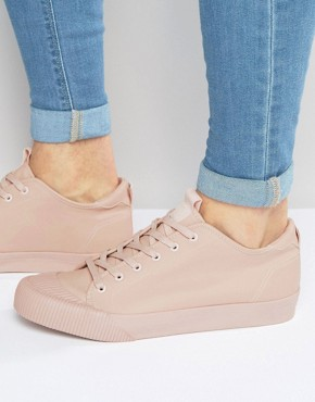 ASOS Lace Up Plimsolls in Pink