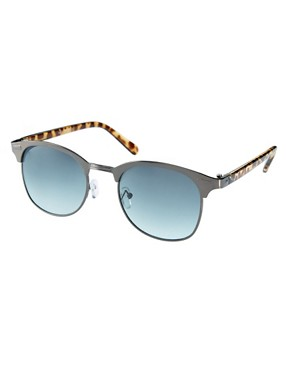 Image 1 ofASOS Metal Front Clubmaster Sunglasses