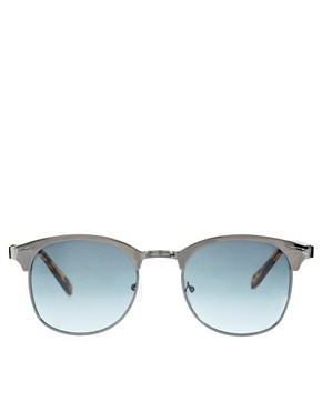 Image 2 ofASOS Metal Front Clubmaster Sunglasses