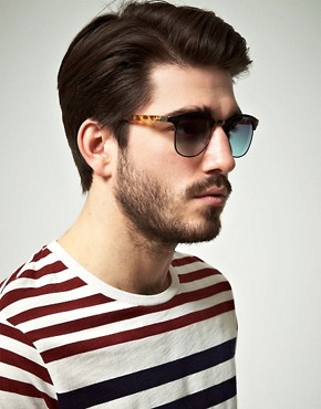 Image 3 ofASOS Metal Front Clubmaster Sunglasses