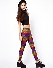 ASOS Leggings in Rainbow Aztec Print