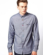 Fred Perry Shirt with Degraded Dot Print