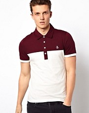 Polo con panel en contraste de Original Penguin