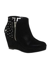 Blink Shiny Studded Heel Wedge Boot