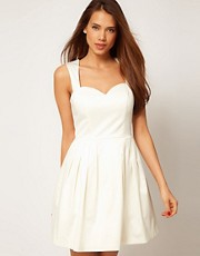 ASOS Mini Prom Dress in Satin