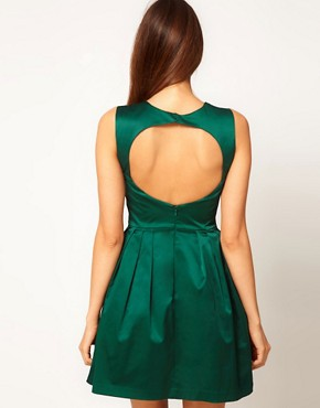 Image 2 ofASOS Mini Prom Dress in Satin