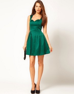 Image 4 ofASOS Mini Prom Dress in Satin