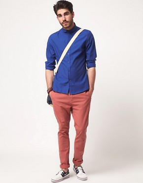 Image 4 ofASOS Slim Fit Curved Collar Shirt