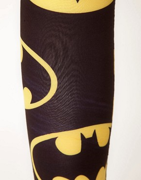 Image 3 of Lazy Oaf x Batman Exclusive Leggings In Bat Logo Print