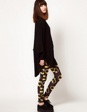 Image 1 of Lazy Oaf x Batman Exclusive Leggings In Bat Logo Print