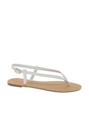 Image 1 ofASOS FINSBURY Toe Thong Flat Sandals