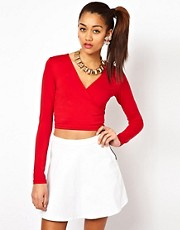 Motel Wrap Crop Top