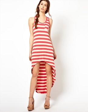 Image 1 ofWal G Striped Dress With Dipped Hem