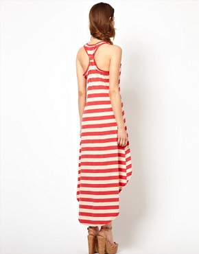 Image 2 ofWal G Striped Dress With Dipped Hem