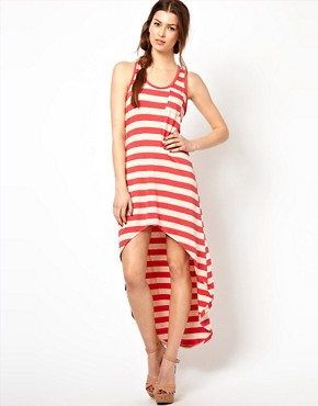 Image 4 ofWal G Striped Dress With Dipped Hem