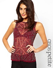 ASOS PETITE Exclusive Vest With Embellishment