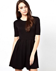 Warehouse Ponte Skater Dress