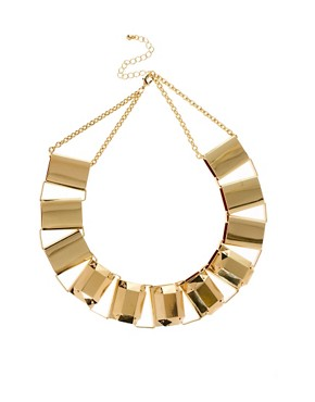 Image 1 of ASOS Metallic Collar Necklace