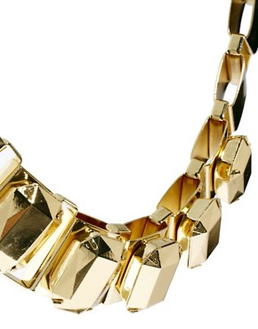 Image 3 of ASOS Metallic Collar Necklace