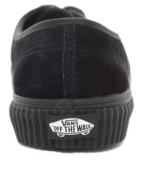Image 2 ofVans California Authentic Hiker CA Black Lace Up Trainers