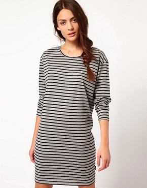 Image 1 ofPaul by Paul Smith Striped Jersey Mini Dress