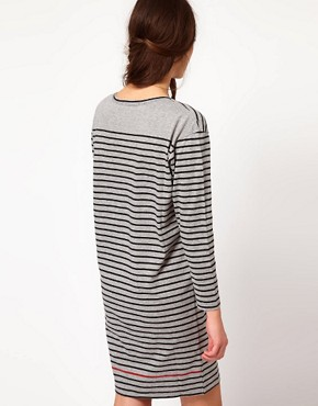 Image 2 ofPaul by Paul Smith Striped Jersey Mini Dress