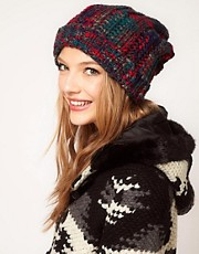ASOS Chunky Mixed Knit Boyfriend Beanie