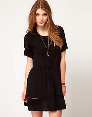 Religion Embroidered Dress