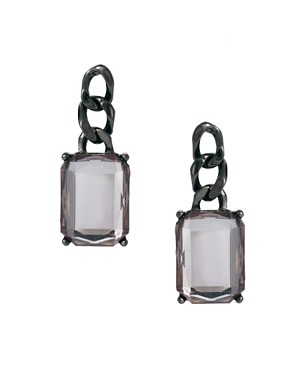 Image 1 ofASOS Chain Link Gem Earrings