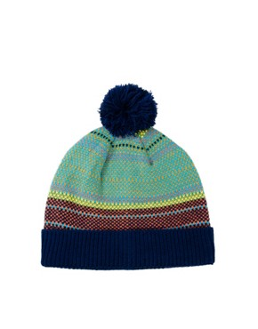 Image 2 ofASOS Bobble Beanie With Multi Colour Birdseye Stitch