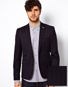 Image 1 ofVito Pinstripe Blazer