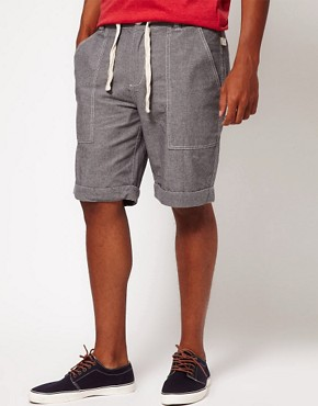 Image 1 ofBellfield Shorts with Chambray Tie