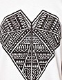 Image 3 of Illustrated People Diamond Heart Print T-Shirt