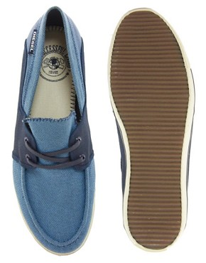 Image 3 ofDiesel Goodtime Malory Canvas Boat Shoes