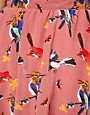 Image 3 ofGlamorous Bird Print Hi Lo Skirt