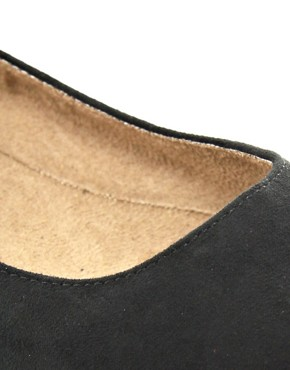 Image 2 ofNew Look Jike Stud Black Ballet Flats