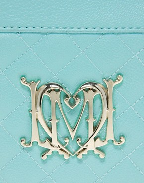 Image 2 ofLove Moschino Leather Quilted Clutch Bag