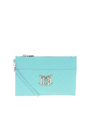 Image 1 ofLove Moschino Leather Quilted Clutch Bag