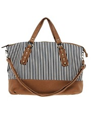 New Look Canvas Donovan Stripe Shopper